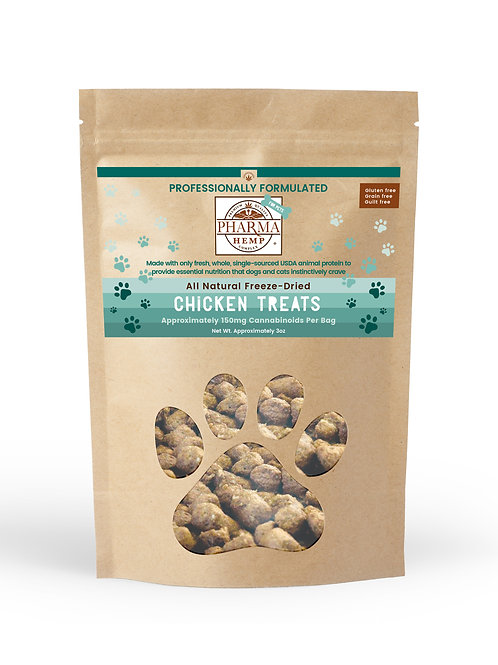 CBD Oil Freeze-Dried Chicken Pet Treats $12.99-$26.99