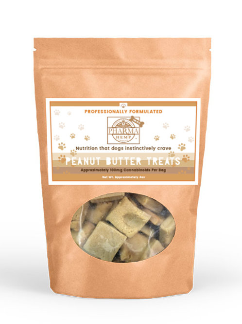 CBD Oil Peanut Butter Dog Treats (4oz/100mg) $26.99