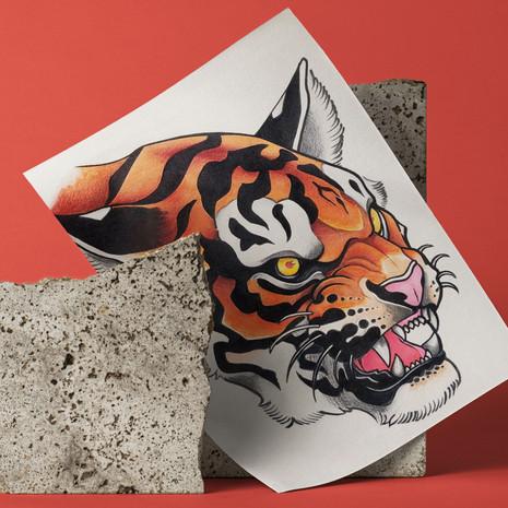 • Tiger tattoo illustration