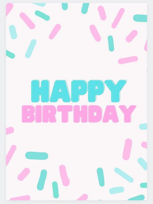 Confetti Birthday card