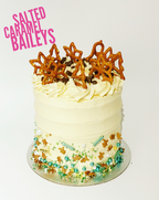 Salted caramel baileys cake
