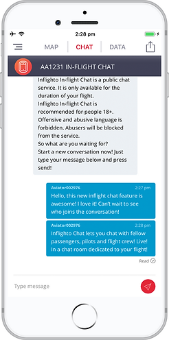 Inflighto Inflight Chat Live Chat Room