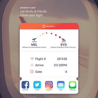 Social Media Sharing of your flight!
