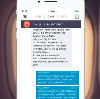 Live Chat - Exclusive to Inflighto!