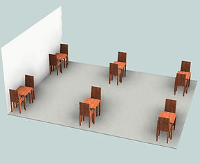 6 TABLES NO DIVIDERS - MATCHES DINING LA