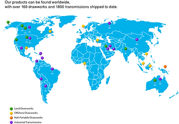 Equipment Map - Where our equipment can be found worldwide
