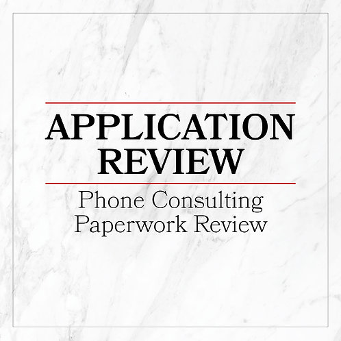 Application Review/Phone Consulting