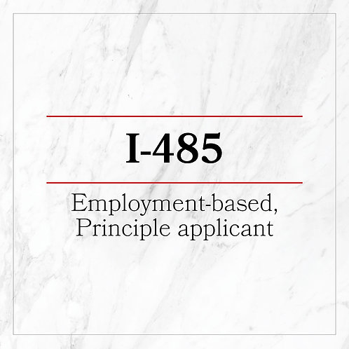 I-485 Employment-based, Principle applicant