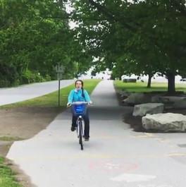 Taylor enjoying our team bike ride around Stanley Park