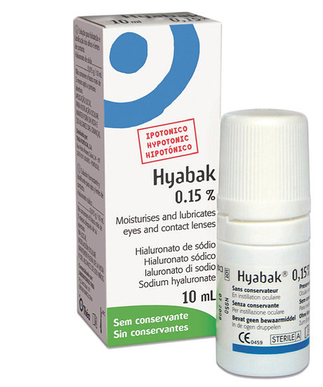 Hyabak 10mL Preservative Free Artificial Tears
