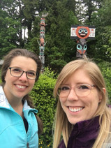 Taylor and Dr. Starko in Stanley Park