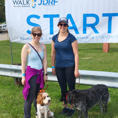 Dr. Starko, Taylor, and our Office Mascots at Calmar's walk to end Juvenile Diabetes
