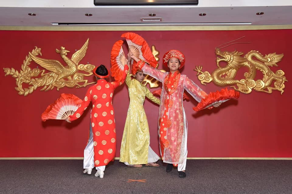 Dancers at the Children of Vietnam Benevolent Foundation Gala