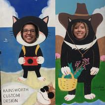 Dr. Starko and Taylor having fun at Granville Island