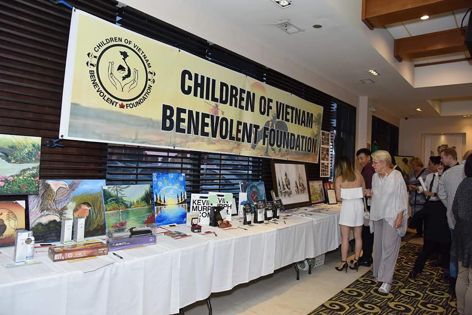 Silent Auction at Children of Vietnam Benevolent Foundation