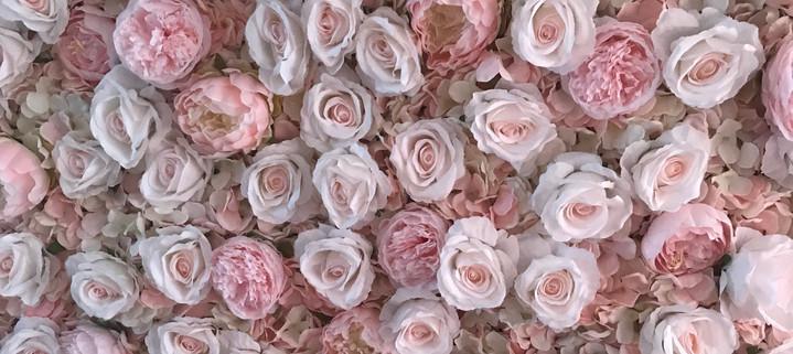 Blush Pink Flower Wall | The Flower Wall Girl