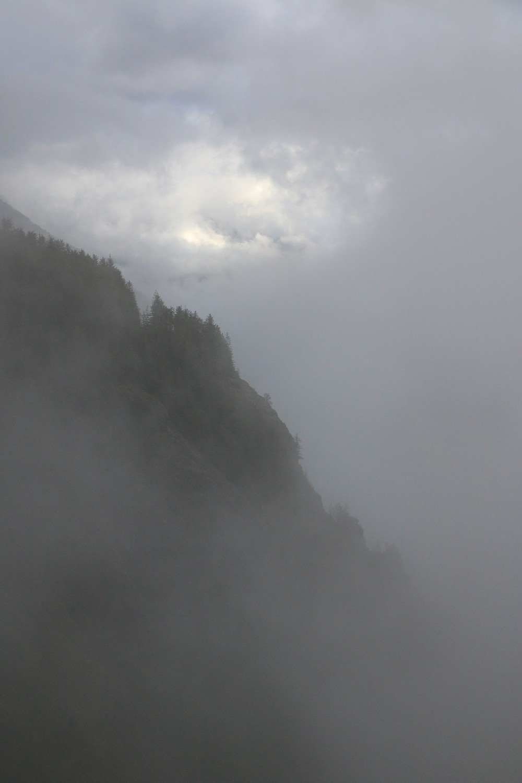 A mountain in the fog taken from Dirty Harry's Balcony
