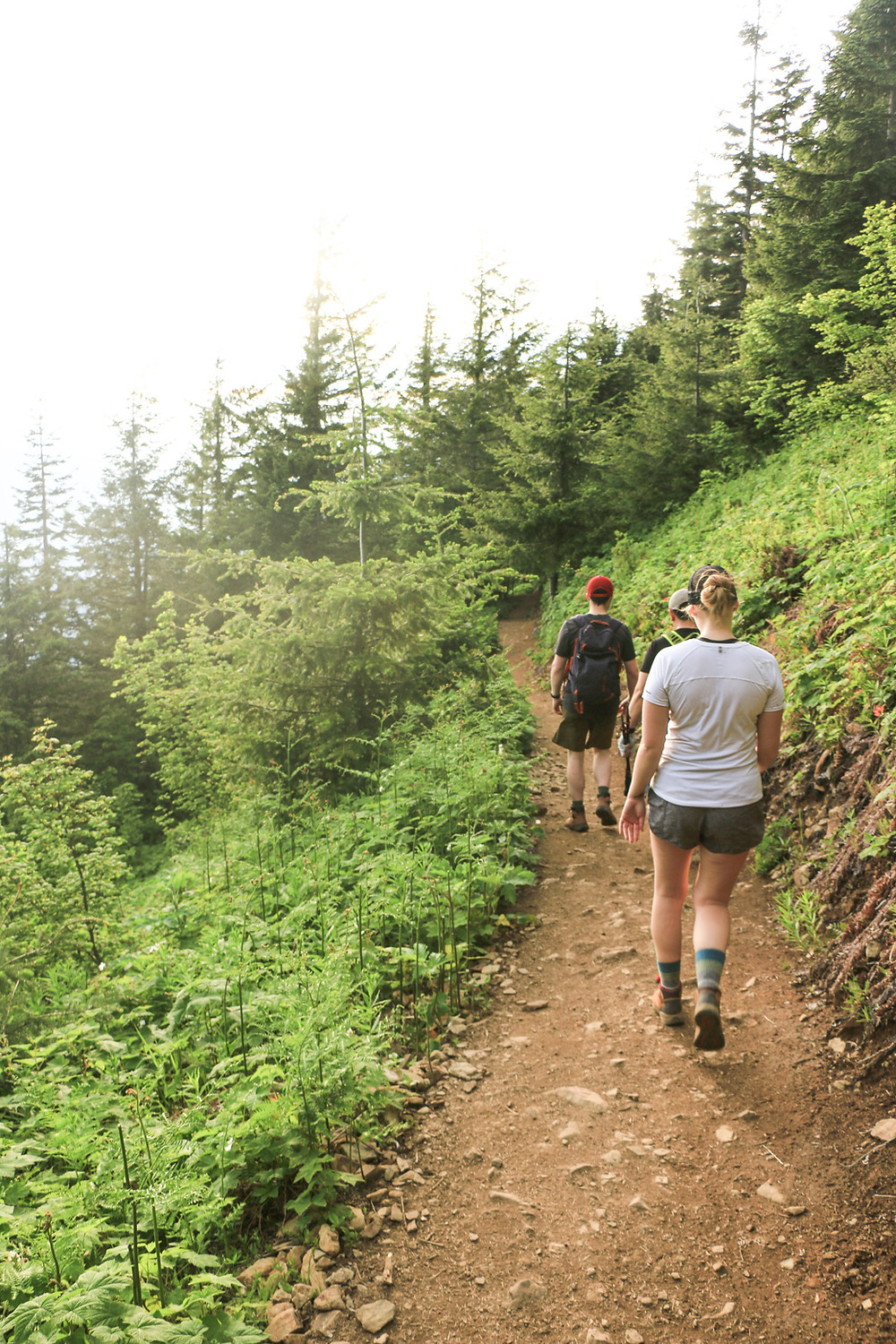hikers walking a gradual path on mailbox peak trail