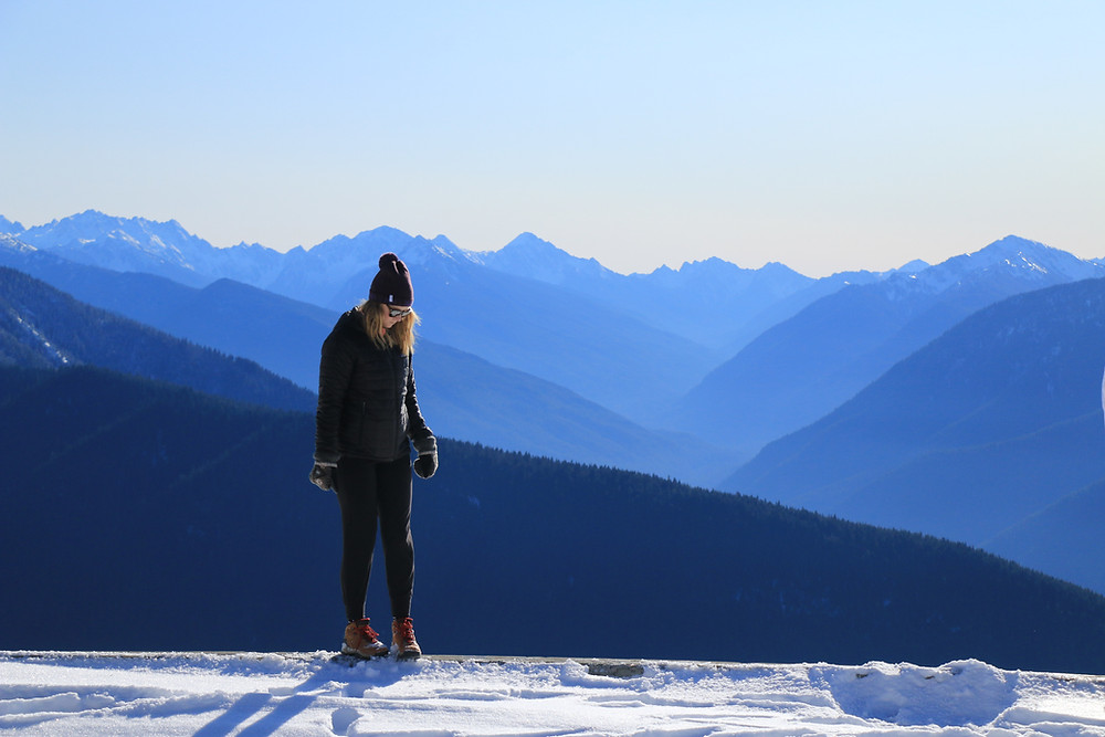 Girl standing at Hurricane Ridge Olympic National Park