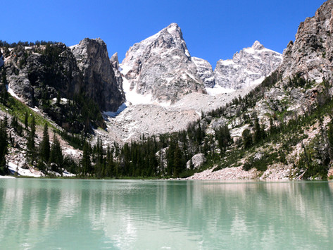 Hiking To Delta Lake in Grand Teton National Park