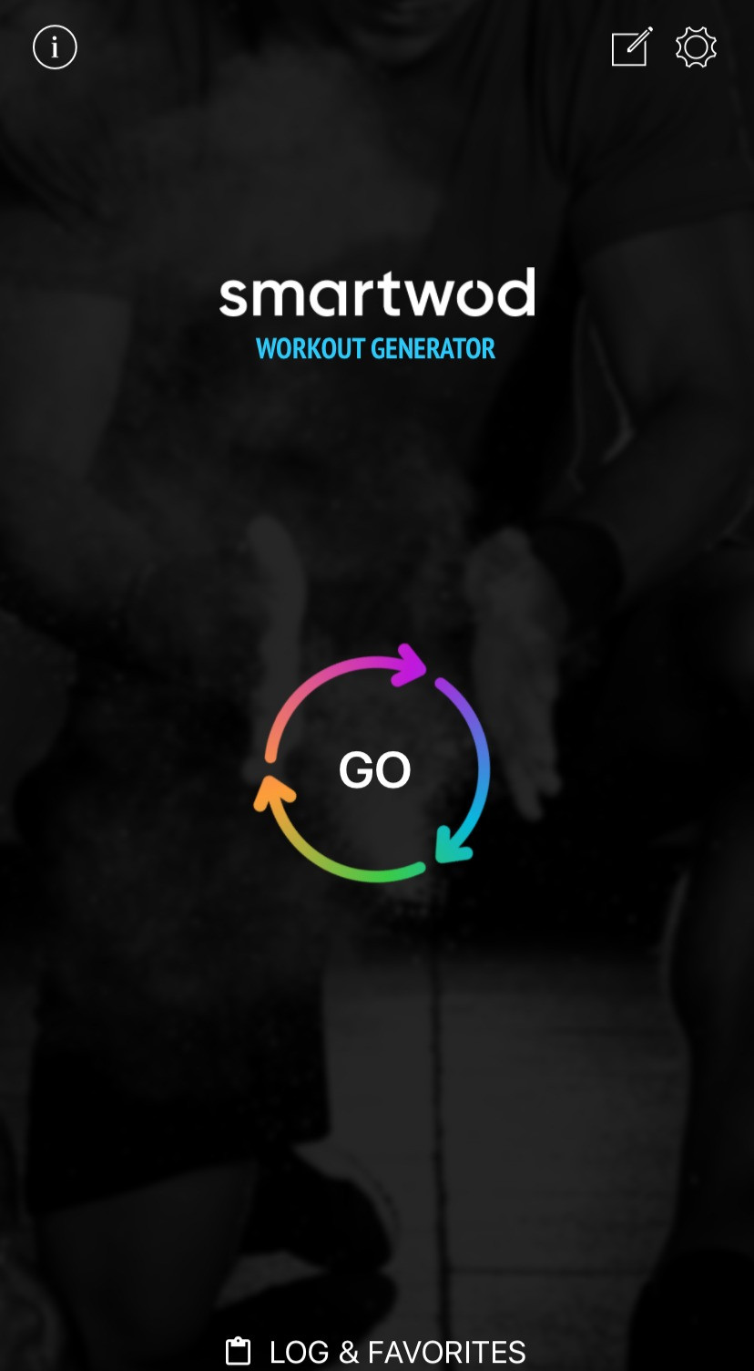 Screenshot of SmartWOD generator app