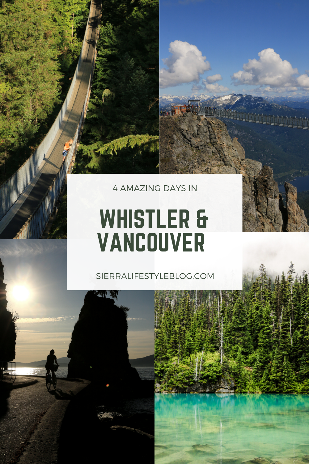 4 Amazing Days in Whistler and Vancouver Pinterest Pin