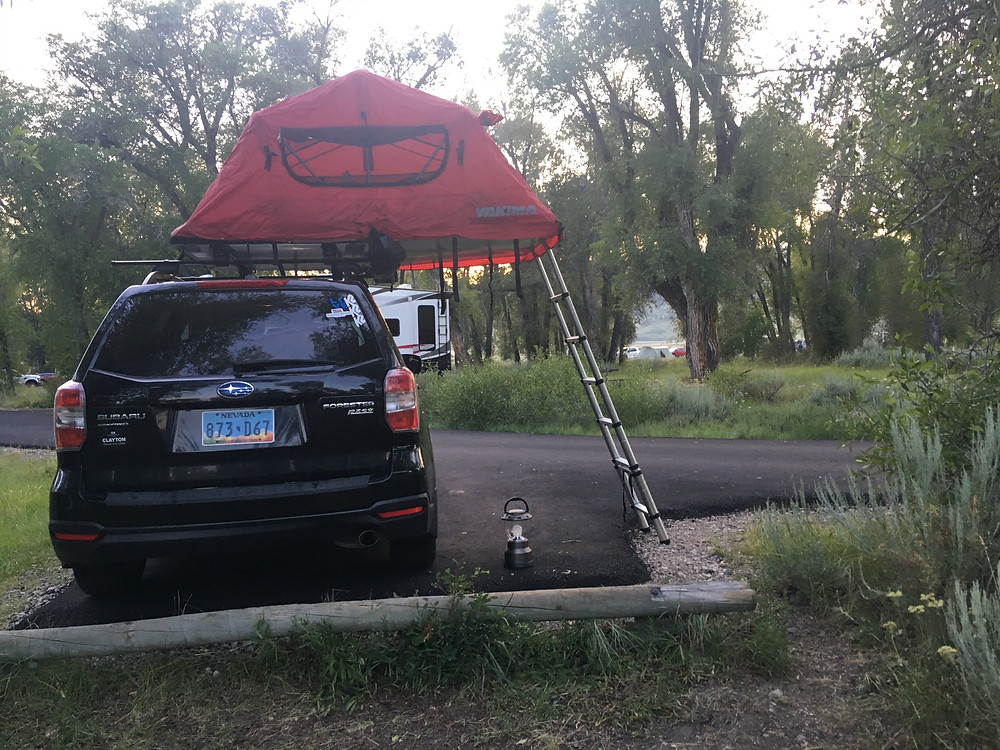 Camping with a rooftop tent