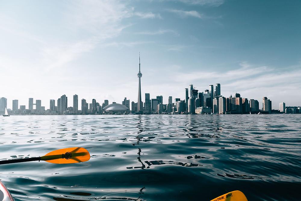 Kayaking on Lake Ontario