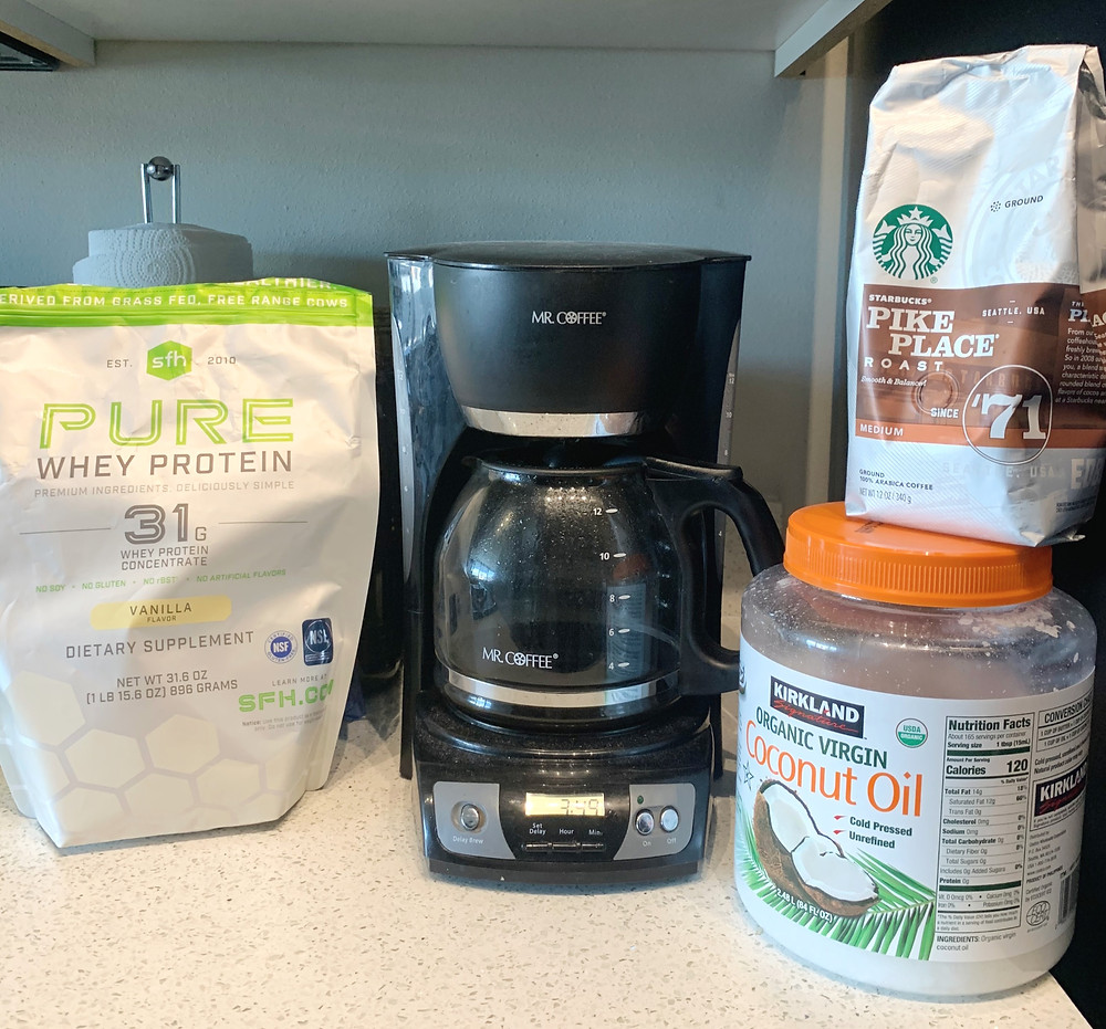 ingredients for Protein Coffee
