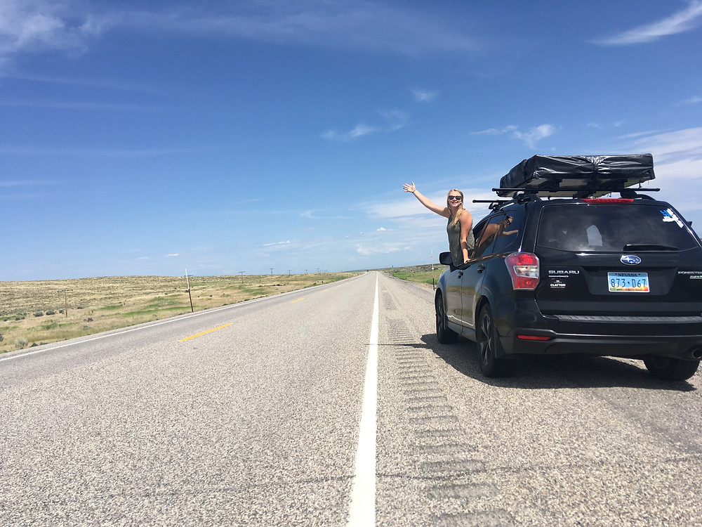 Subaru Forester going on a road trip