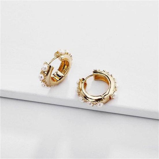 Pearls Huggie Earrings