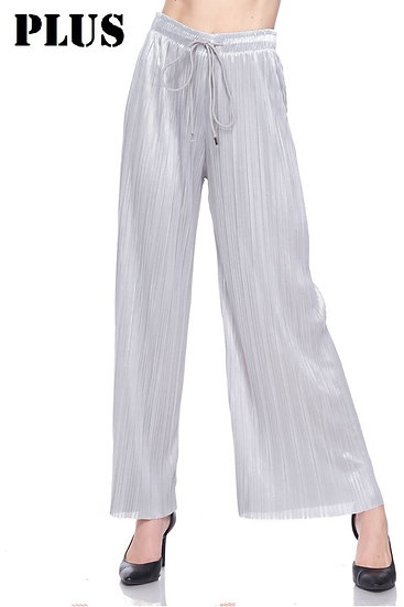 Silver Pleated Pant
