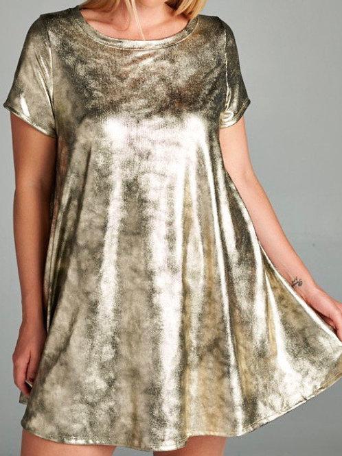 Golden Dream Short Dress