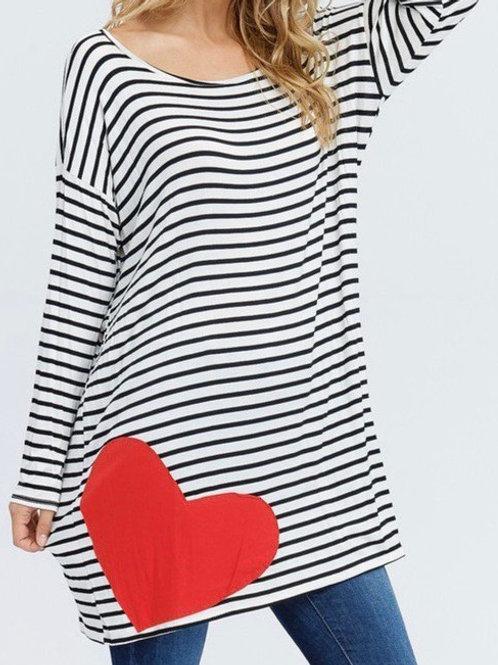 Stripes & Heart Dress