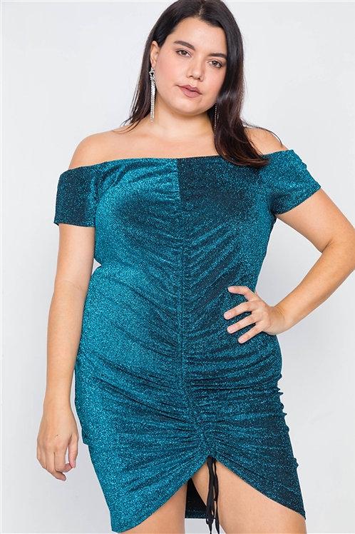 Teal Glitter Dress