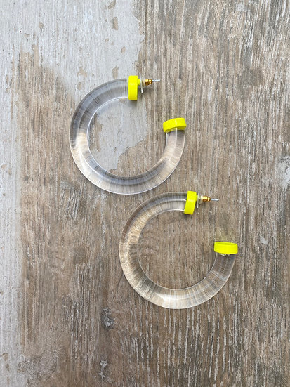 Clear Tubería Earrings