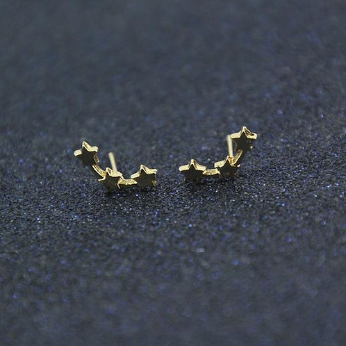 Galaxy Stud Earrings (Gold)