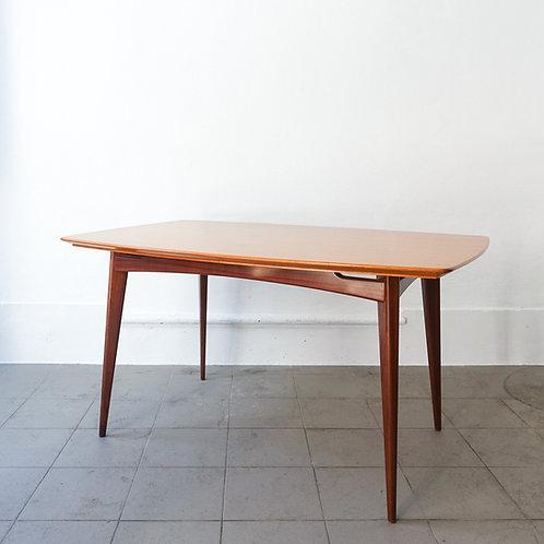 Agba Wood Nilva Dining Table by José Espinho for Móveis Olaio, 1960s