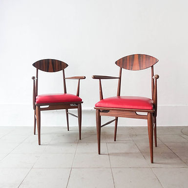 Pair of Armchairs in Sucupira Wood, 1960's