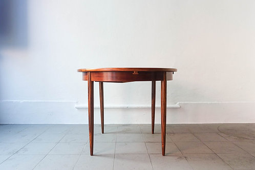 Extendable Round Dining Table by José Cruz de Carvalho for Altamira, 1960's