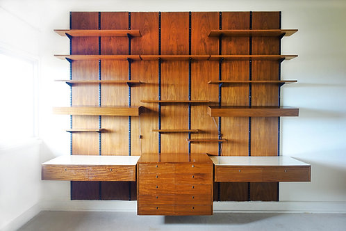 Large Modular Wall Unit by Sparrings, Sweden, 1960's