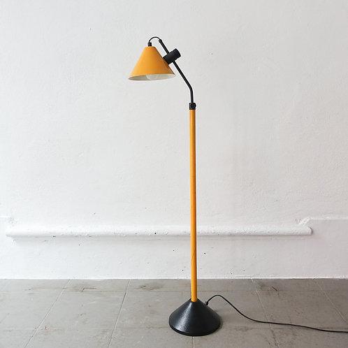 Yellow Dutch Floor Lamp, 1980's