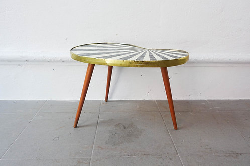 Small Kidney-Shaped Flower Side Table 1950's