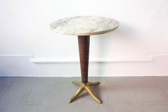 50's Italian Marble Bistro Table