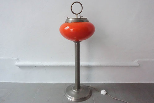 60's Portuguese Opaline Glass Ashtray Lamp