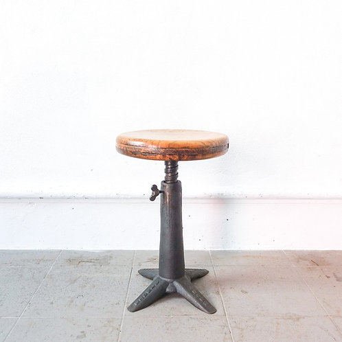 Vintage Stool from Singer, 1930s