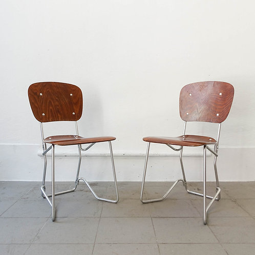 Vintage Aluflex Stacking Chair by Armin Wirth for Ph. Zieringer K.G., 1950's