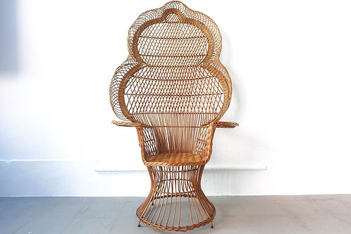 "Iconic ""Emanuelle"" Peacock Chair, 1970's"