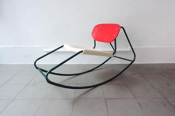 60' Rocking Chair in the style of Dirk Van Sliedrecht
