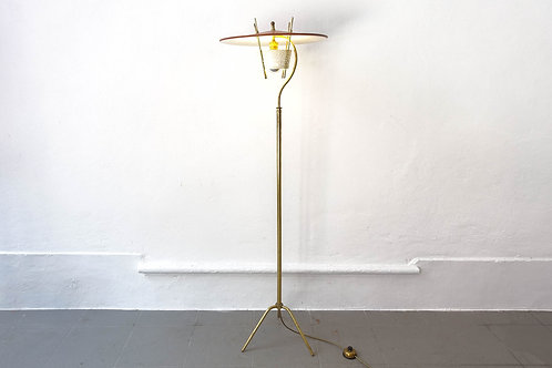 50's Brass Floor Lamp